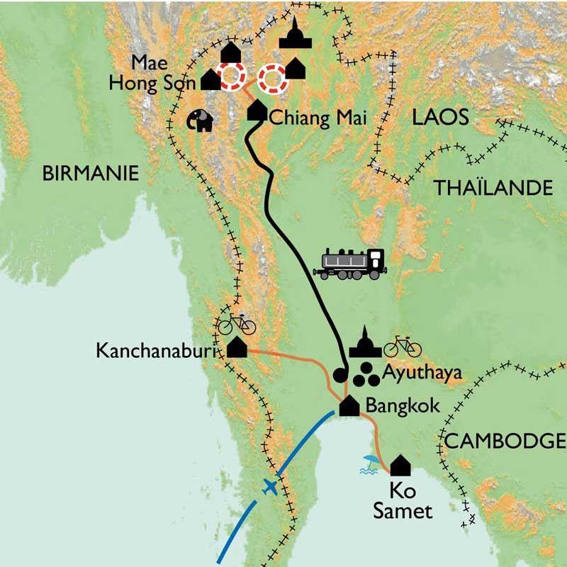[KEY_MAP] - Thaïlande - Des tribus montagnardes au Golfe de Siam