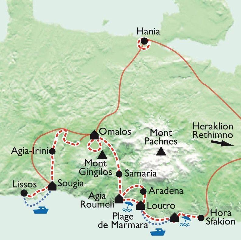 [KEY_MAP] - Grèce - Crète, Randonnées et baignades