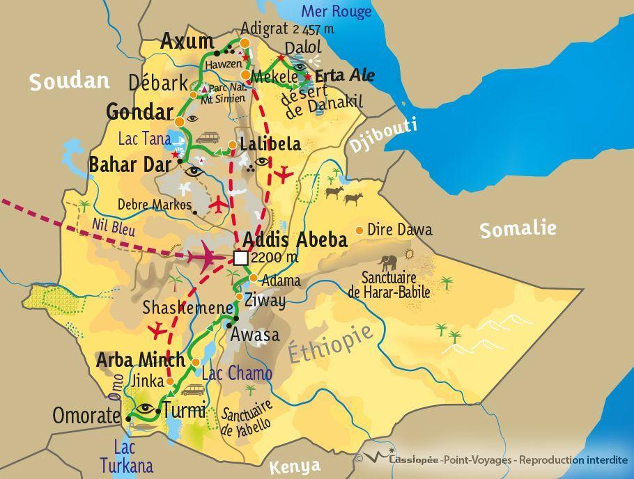 [KEY_MAP] - Ethiopie - L'Ethiopie du Nord au Sud