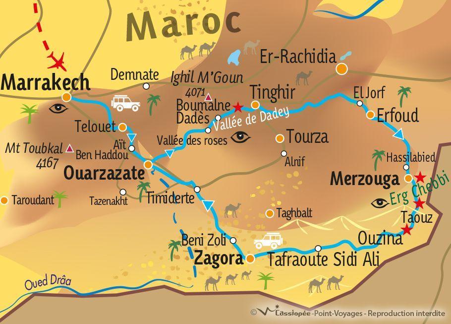 [KEY_MAP] - MAROC - Panorama du grand-sud marocain