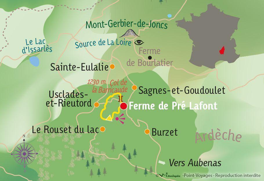 [KEY_MAP] - France - Aventure nordique & bivouac au cœur des monts d'Ardèche
