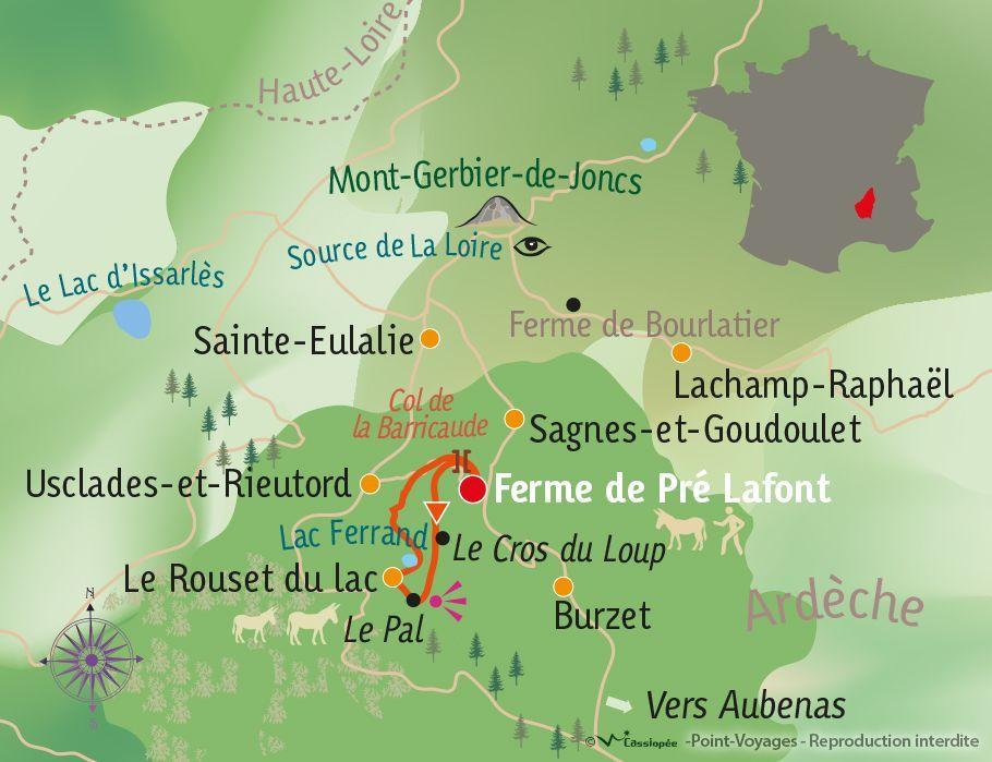 [KEY_MAP] - France - Ma 1ère randonnée itinérante avec un âne