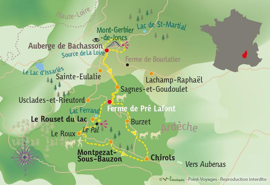 [KEY_MAP] - France - Randonnées & Rencontres ardéchoises