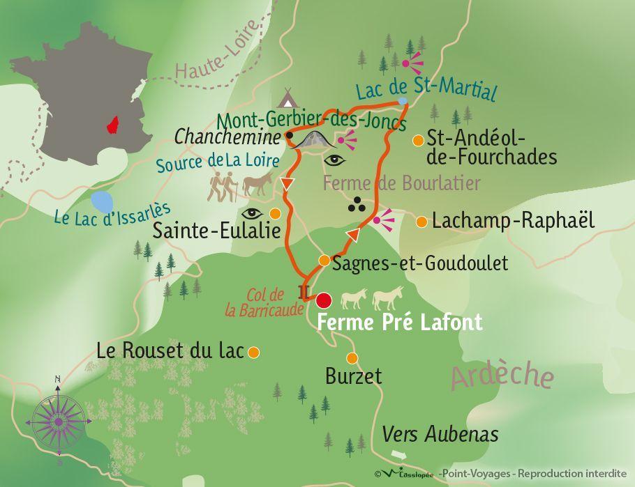 [KEY_MAP] - France - Randonnée & handicap, l'Ardèche à Joëlette
