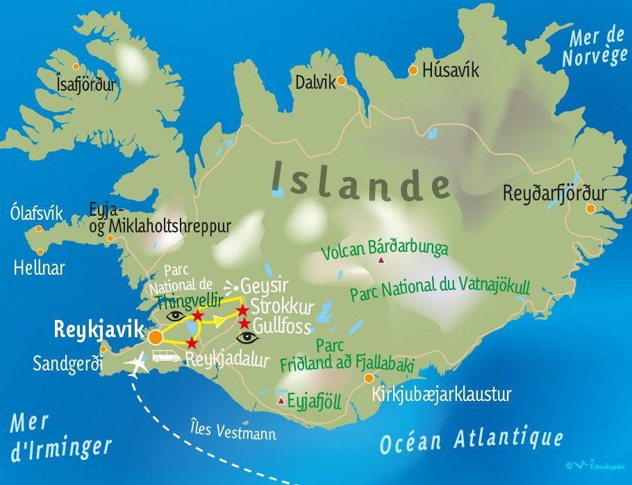 [KEY_MAP] - ISLANDE - Terre volcanique et glacière