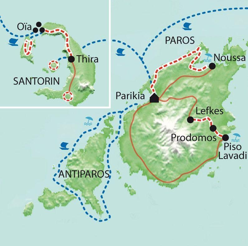 [KEY_MAP] - Grèce - Les Cyclades - Antiparos, Paros, Santorini... et les enfants !!!