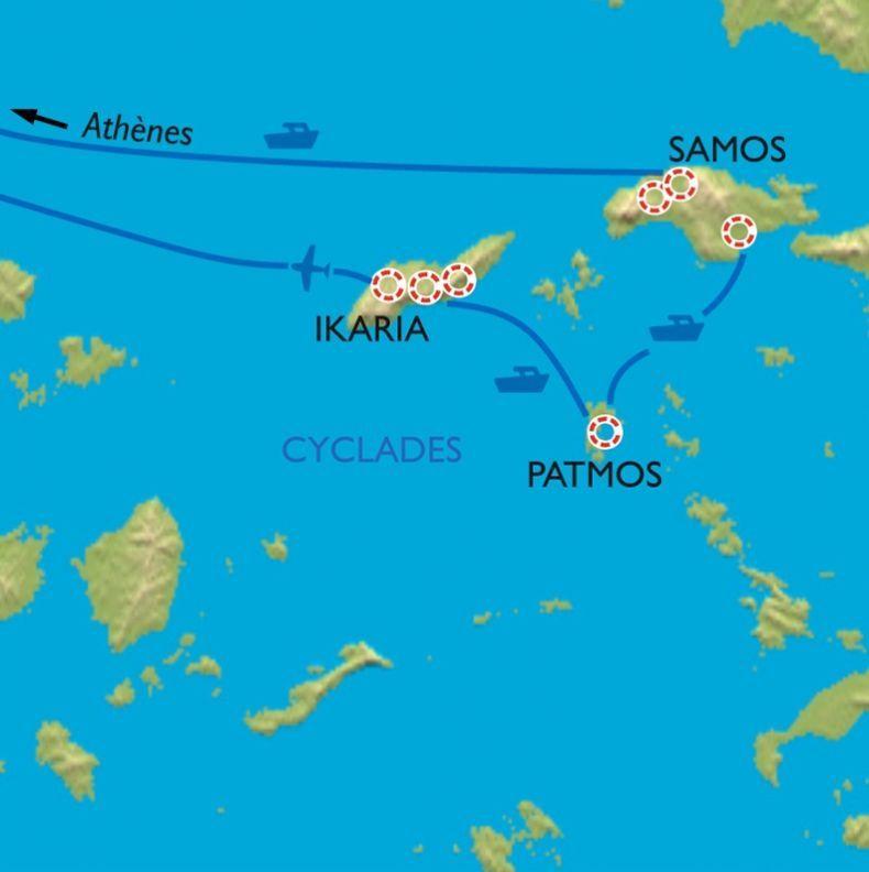 [KEY_MAP] - Grèce - Les Cyclades - Ikaria, Samos, Patmos