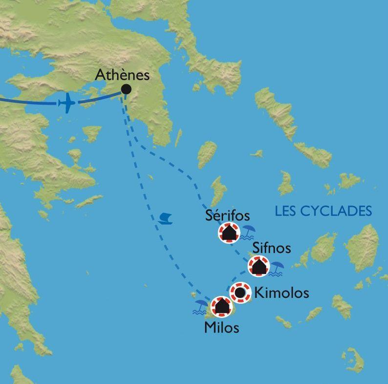 [KEY_MAP] - Grèce - Les Cyclades - Milos, Kimolos, Sifnos et Serifos