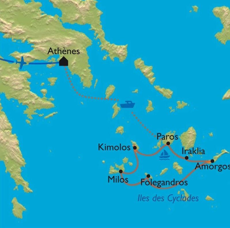 [KEY_MAP] - Grèce - Les Cyclades - Rando/bateau, au gré du vent