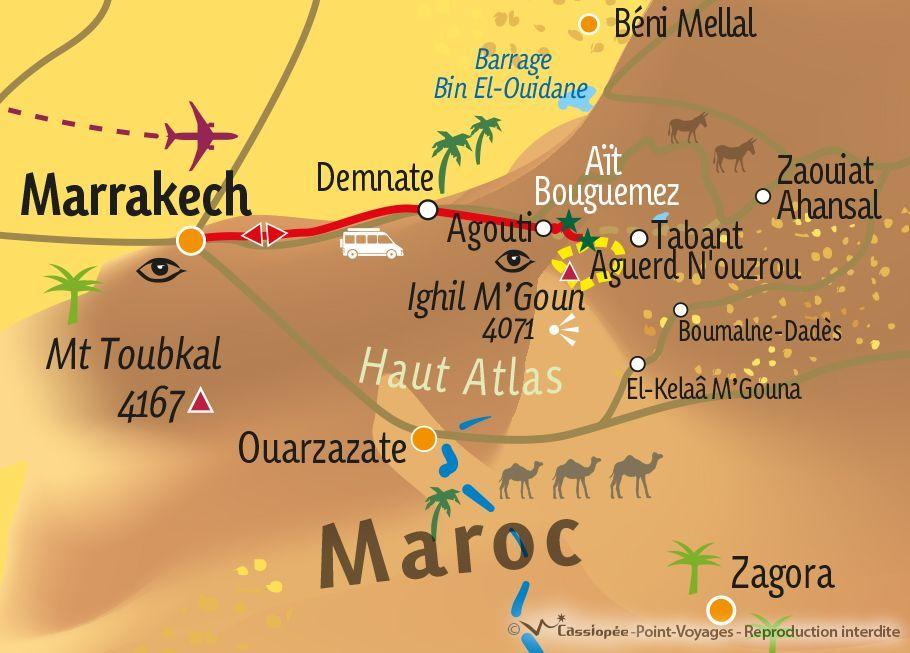 [KEY_MAP] - MAROC - Balade berbère et sommet du M'Goun