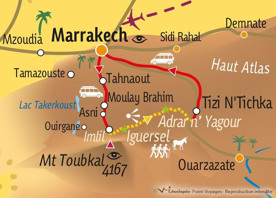 [KEY_MAP] - MAROC - Randonnée muletière dans la vallée du Zat