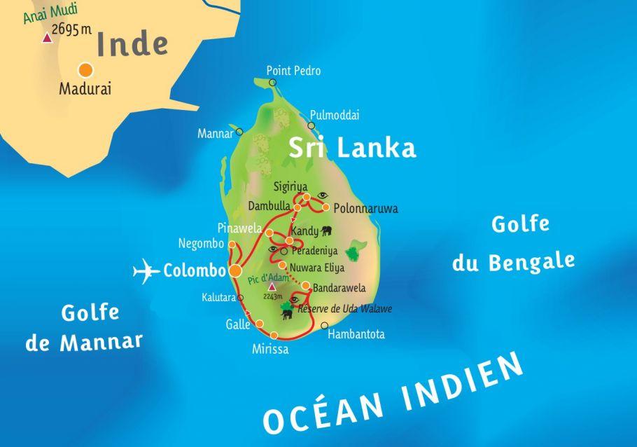 [KEY_MAP] - Sri Lanka -  L'île de Ceylan, la pépite de l'Océan Indien