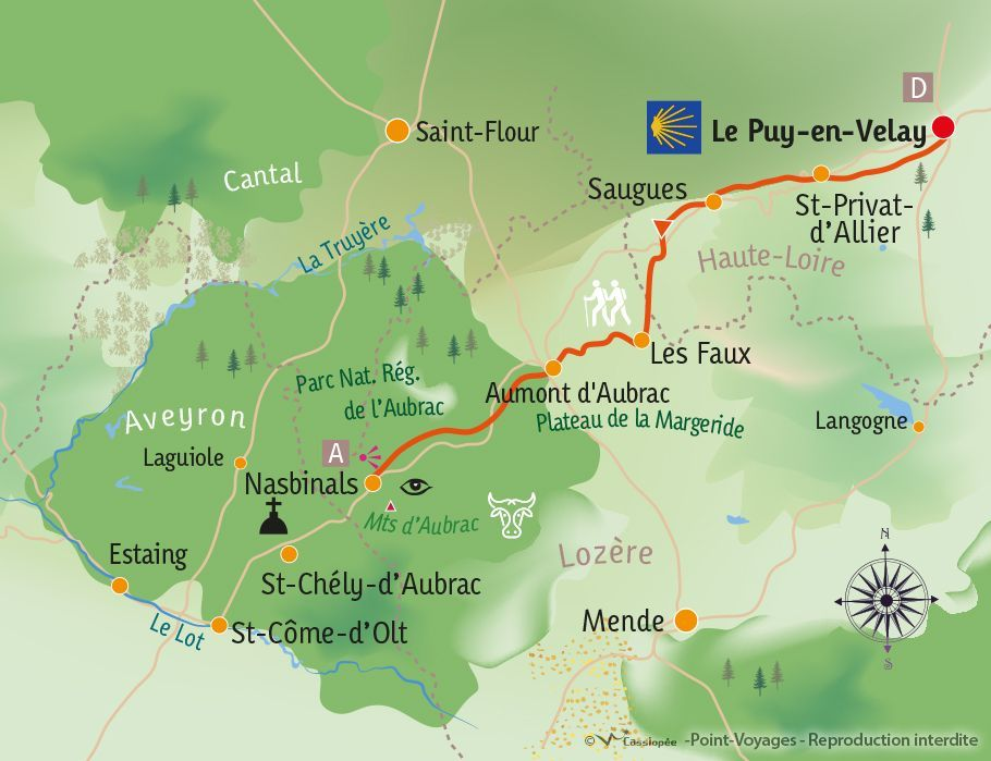 [KEY_MAP] - France - St Jacques de Compostelle : Le Puy en Velay - Nasbinals