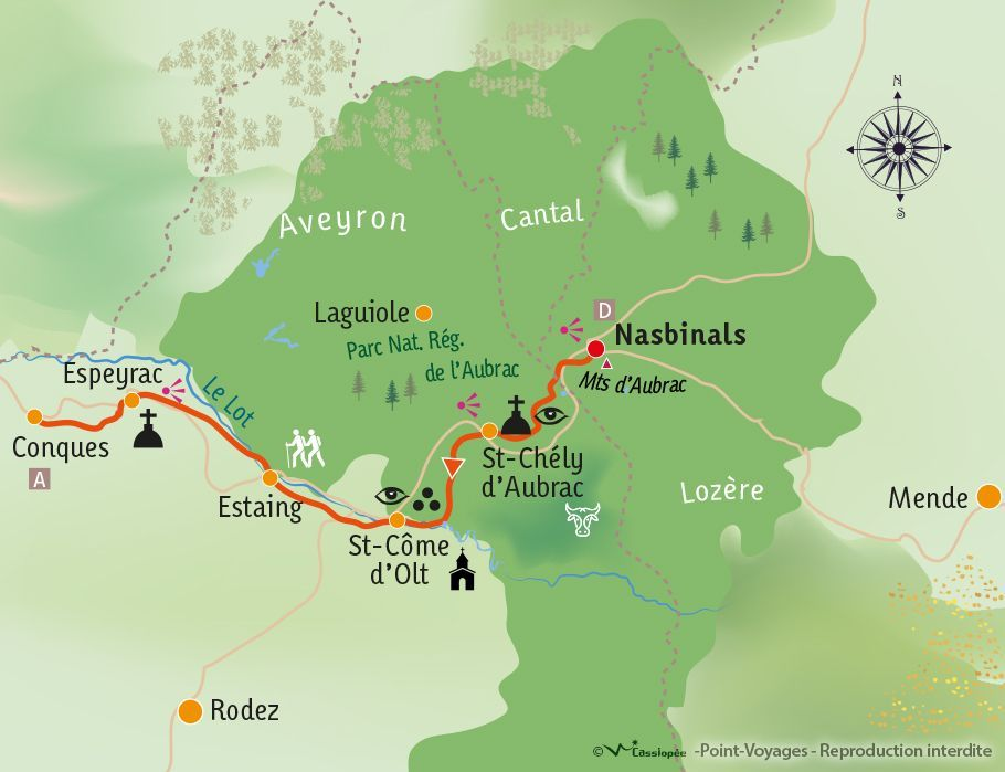 [KEY_MAP] - France - St Jacques de Compostelle : Nasbinals - Conques