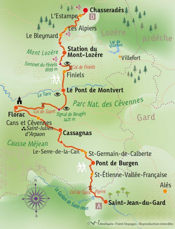 [KEY_MAP] - France - Chemin de Stevenson : Chasseradès - St Jean du Gard