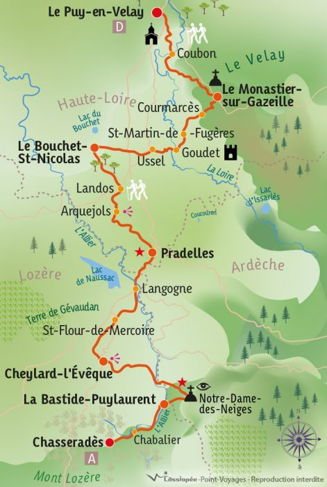 [KEY_MAP] - France - Chemin de Stevenson : Le Puy en Velay - Chasseradès