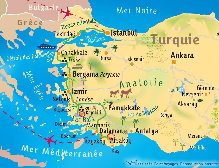 [KEY_MAP] - TURQUIE - De la mer de Marmara à la mer Egée
