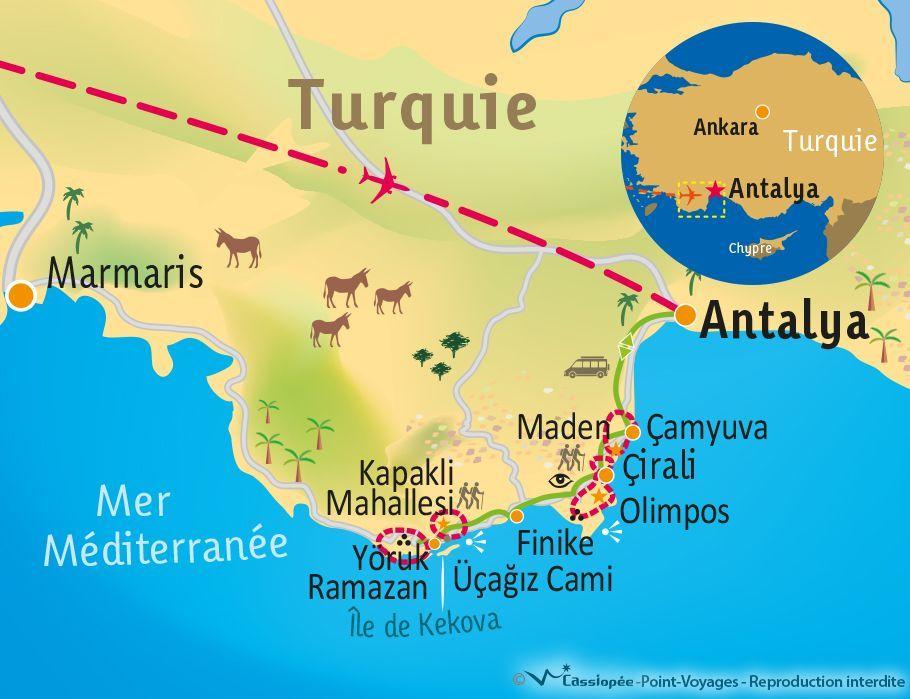 [KEY_MAP] - TURQUIE - Randonnée en Lycie