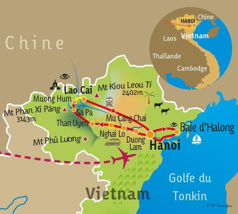 [KEY_MAP] - VIETNAM - Des minorités du nord à la baie d'Halong