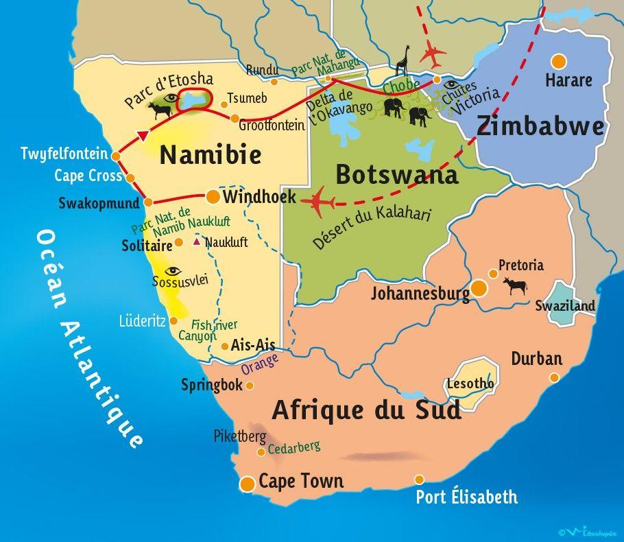 [KEY_MAP] - Namibie/Botswana/Zimbabwe - Panorama d'Afrique Australe