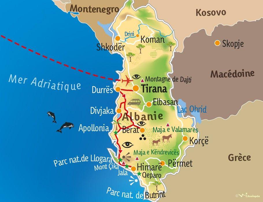[KEY_MAP] - ALBANIE - Sentiers côtiers et patrimoine albanais