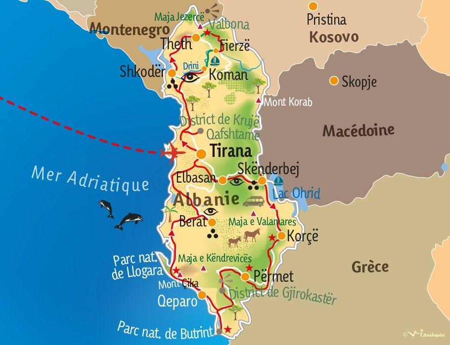 [KEY_MAP] - ALBANIE - Traversée de l'Albanie du nord au sud