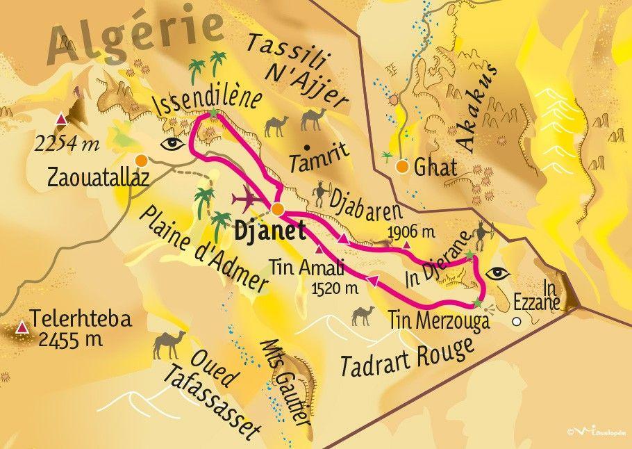 [KEY_MAP] - ALGERIE - Essendilène, Tassili N'Ajjer et Tadrart