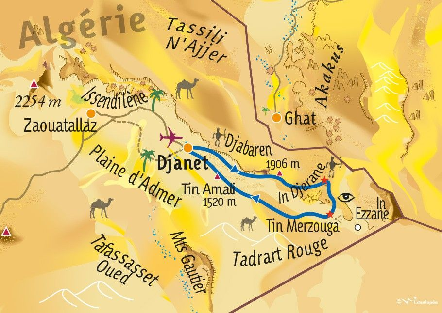 [KEY_MAP] - ALGERIE - La Tadrart Rouge