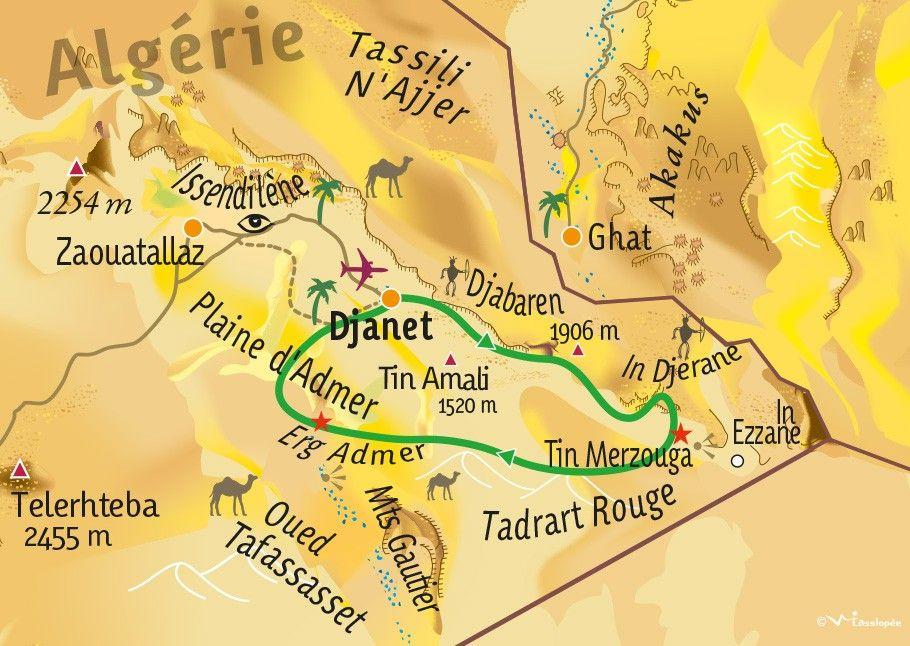 [KEY_MAP] - ALGERIE - De la Tadrart à l'Erg Admer