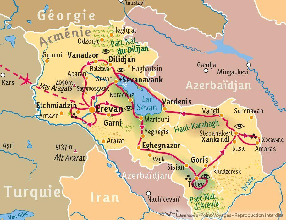 [KEY_MAP] - Arménie - Panorama d'Arménie et du Haut Karabagh
