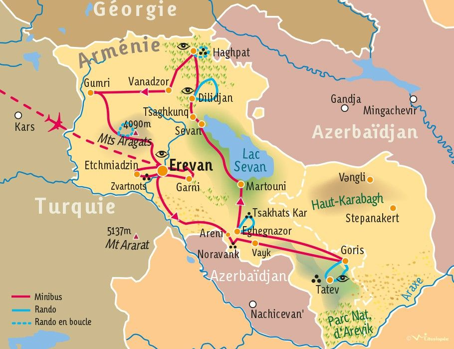 [KEY_MAP] - ARMENIE - Randonnée culturelle en Arménie