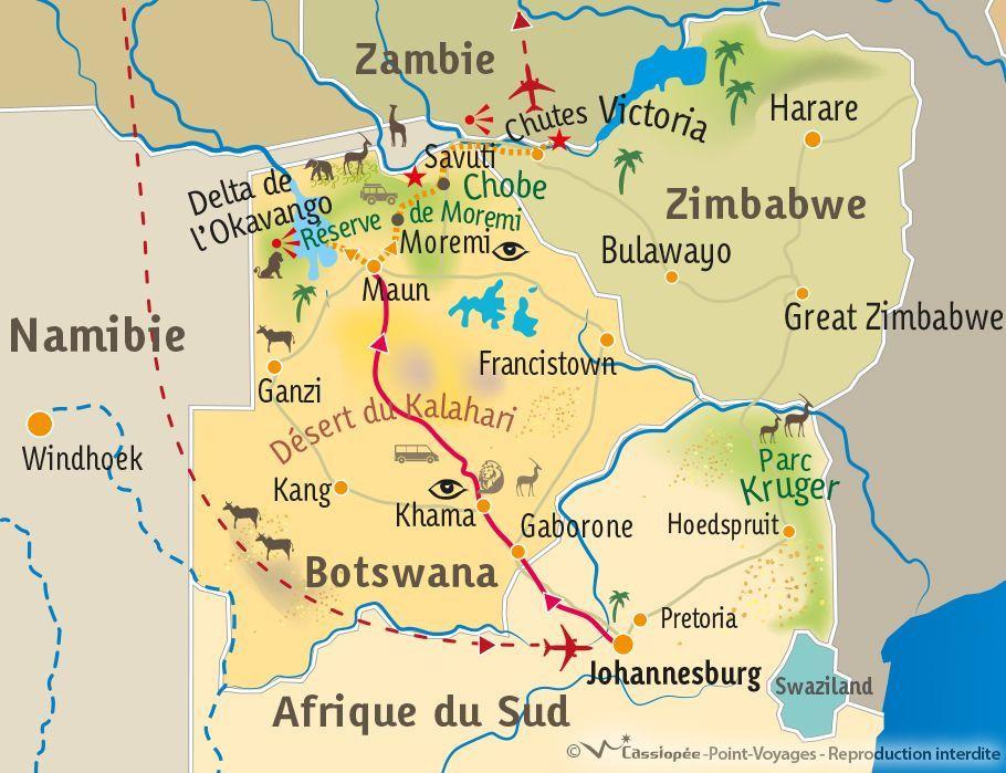 [KEY_MAP] - AF-SUD/BOTSWANA - La vie sauvage du Botswana