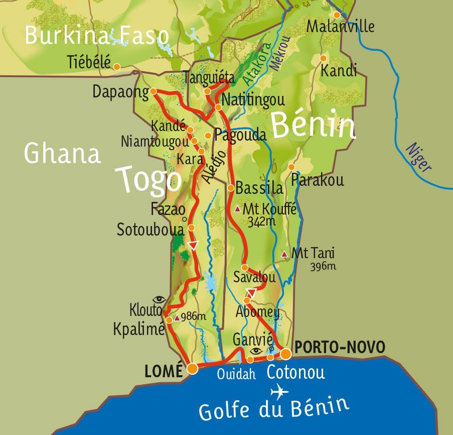 [KEY_MAP] - Togo-Bénin - Aventures ouest-africaines