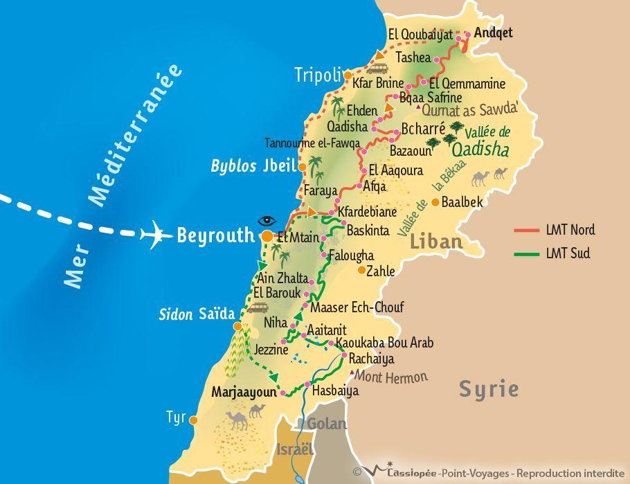 [KEY_MAP] - Liban - LMT Nord (Lebanon Mountain Trail - partie Nord)
