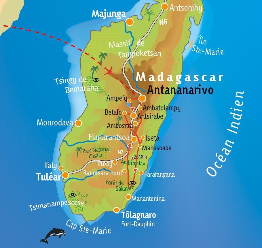 [KEY_MAP] - Madagascar - Randonnée dans les hautes terres