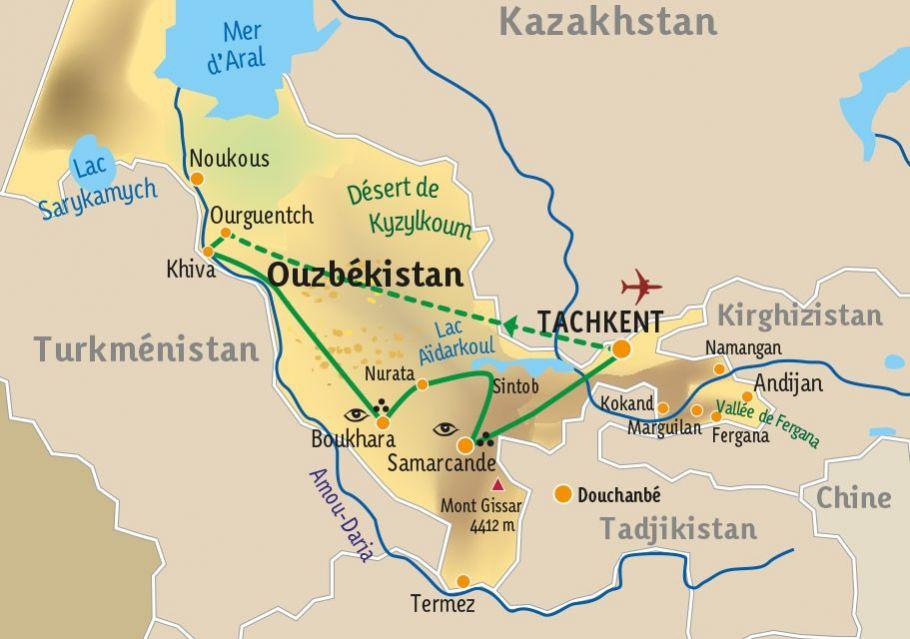 [KEY_MAP] - Ouzbekistan  - Cités de légende : Samarcande, Boukhara, Khiva