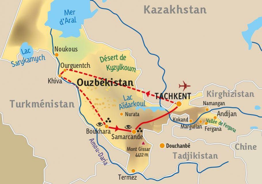 [KEY_MAP] - Ouzbékistan  - Trois merveilles de la Route de la Soie