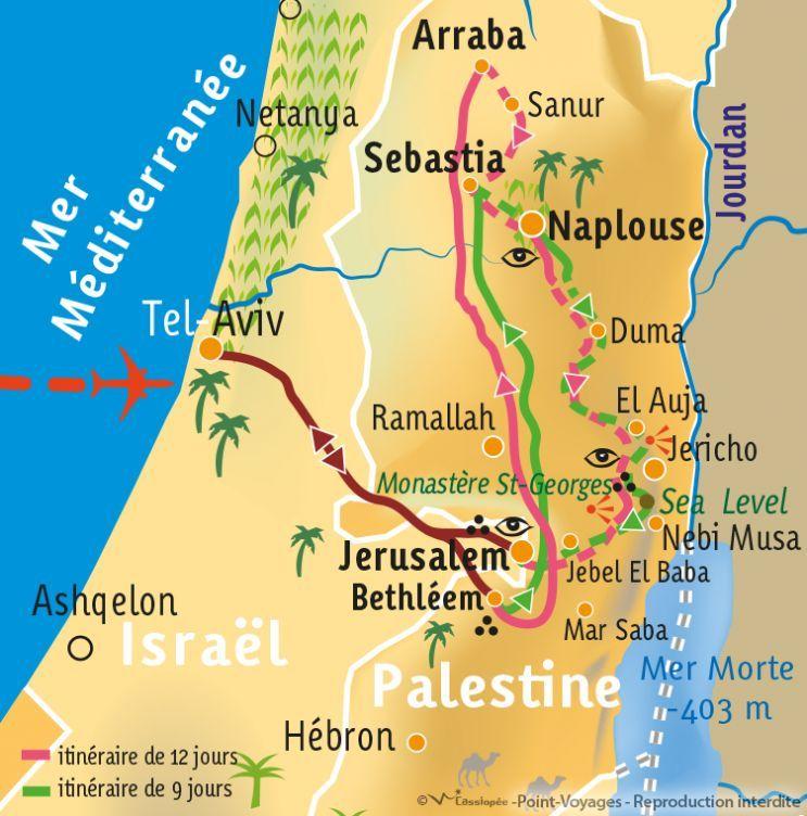 [KEY_MAP] - Palestine - Le Sentier d'Abraham - Partie Nord en 9 jours