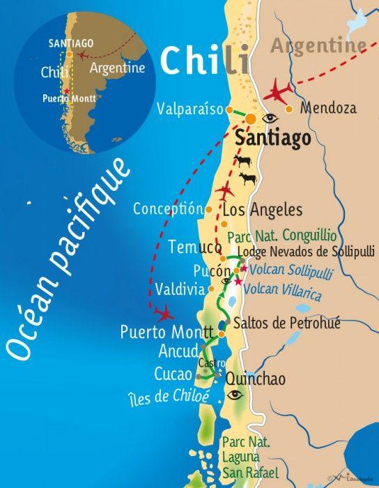 [KEY_MAP] - Chili - Des volcans de Patagonie aux cerros de Valparaiso