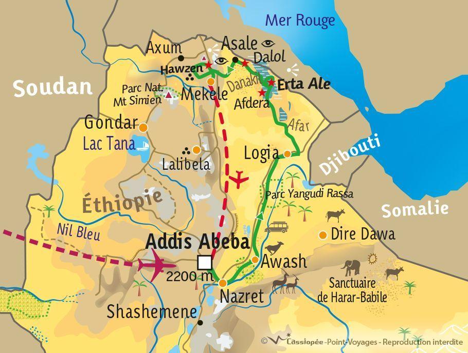 [KEY_MAP] - Ethiopie - Dépression du Danakil, pays Afars et Tigray !