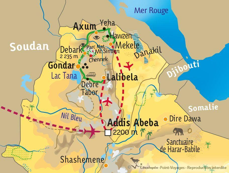 [KEY_MAP] - Ethiopie - Rando et culture en Abyssinie
