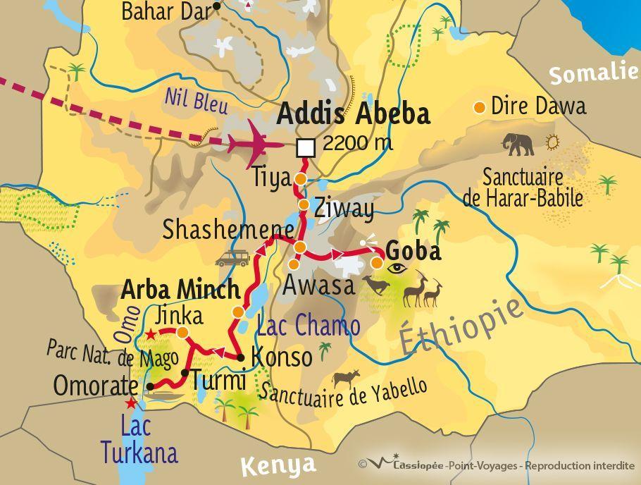 [KEY_MAP] - Ethiopie - Peuples du sud et montagnes du Balé