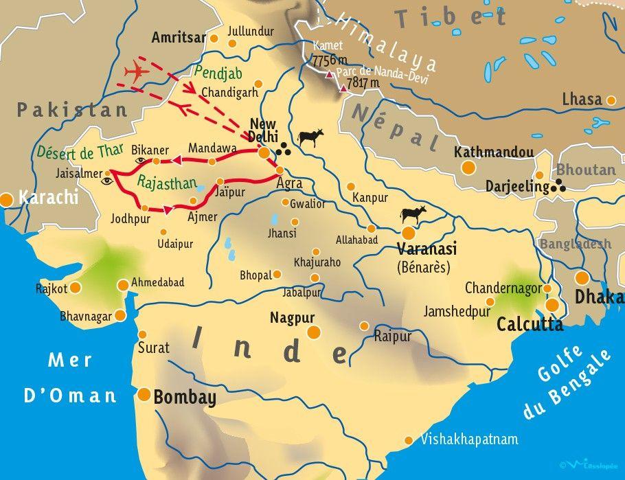 [KEY_MAP] - INDE/RAJASTHAN - Terre des Maharajas - Fête du Désert