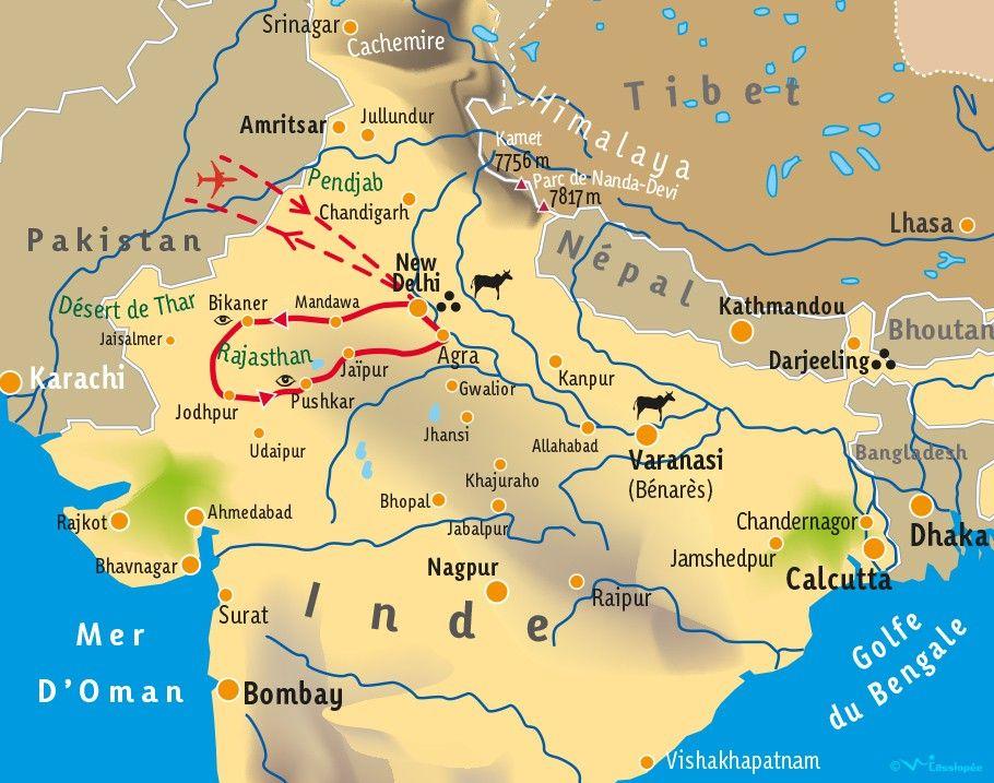[KEY_MAP] - INDE/RAJASTHAN - Vivre le Rajasthan