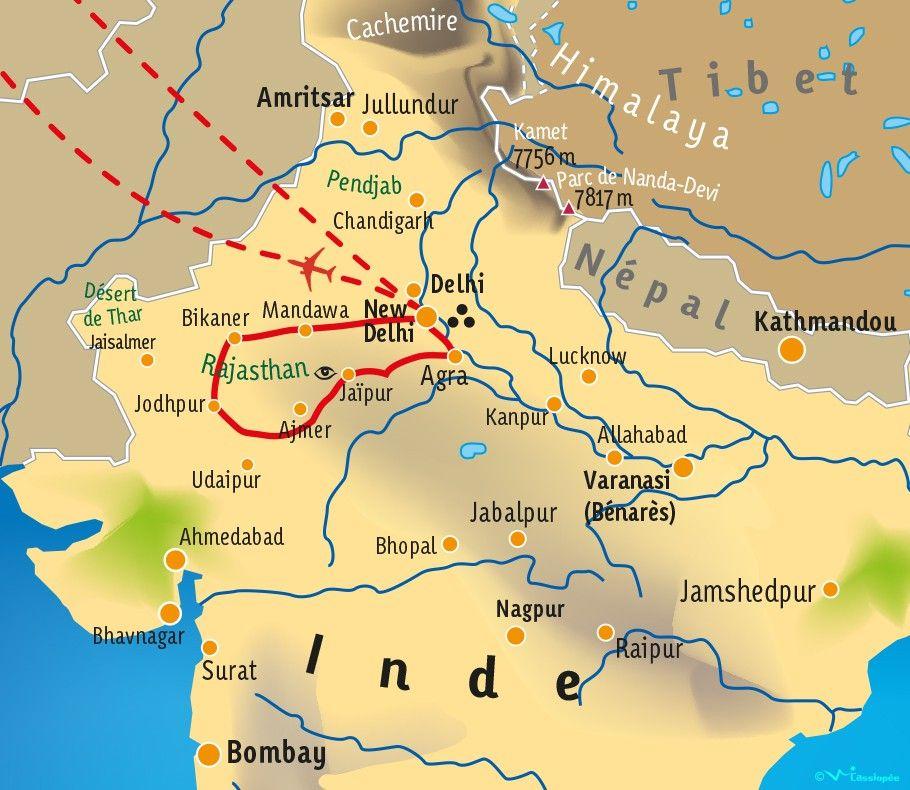 [KEY_MAP] - INDE/RAJASTHAN - Terre des Maharajas - Diwali