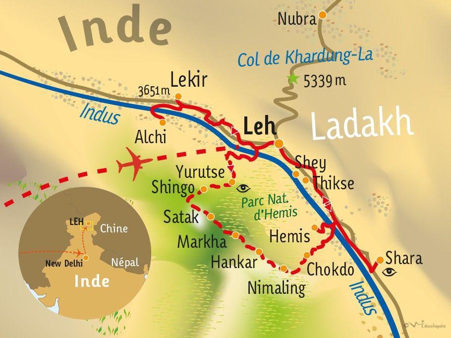 [KEY_MAP] - INDE/LADAKH - Trek dans la Vallée de la Markha