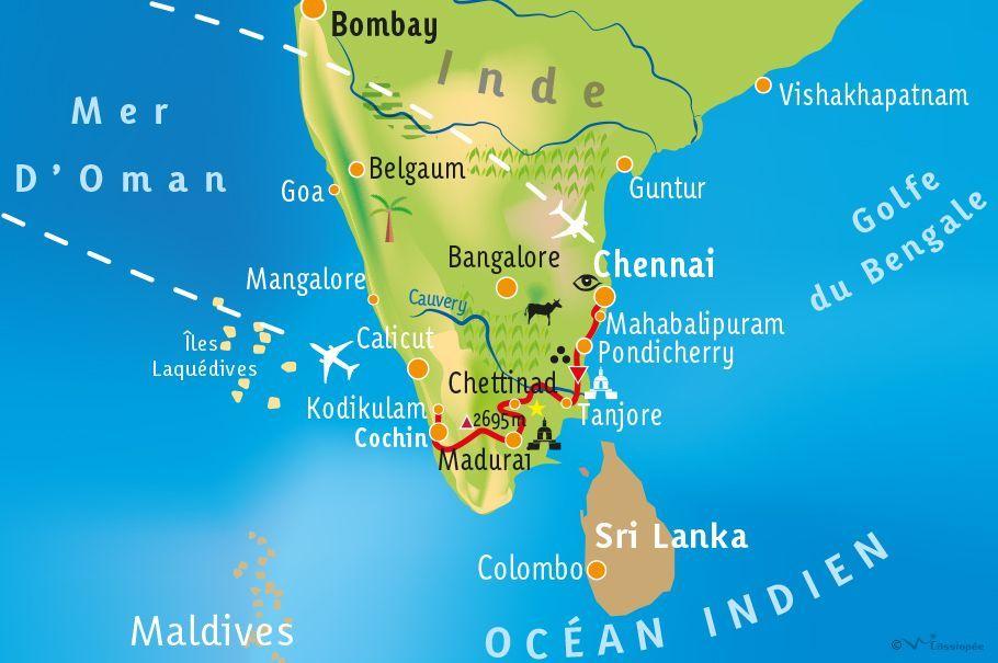[KEY_MAP] - INDE - Du Tamil Nadu au Kerala