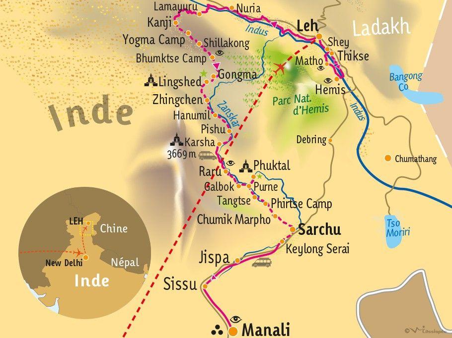 [KEY_MAP] - INDE/LADAKH - Grande traversée du Zanskar