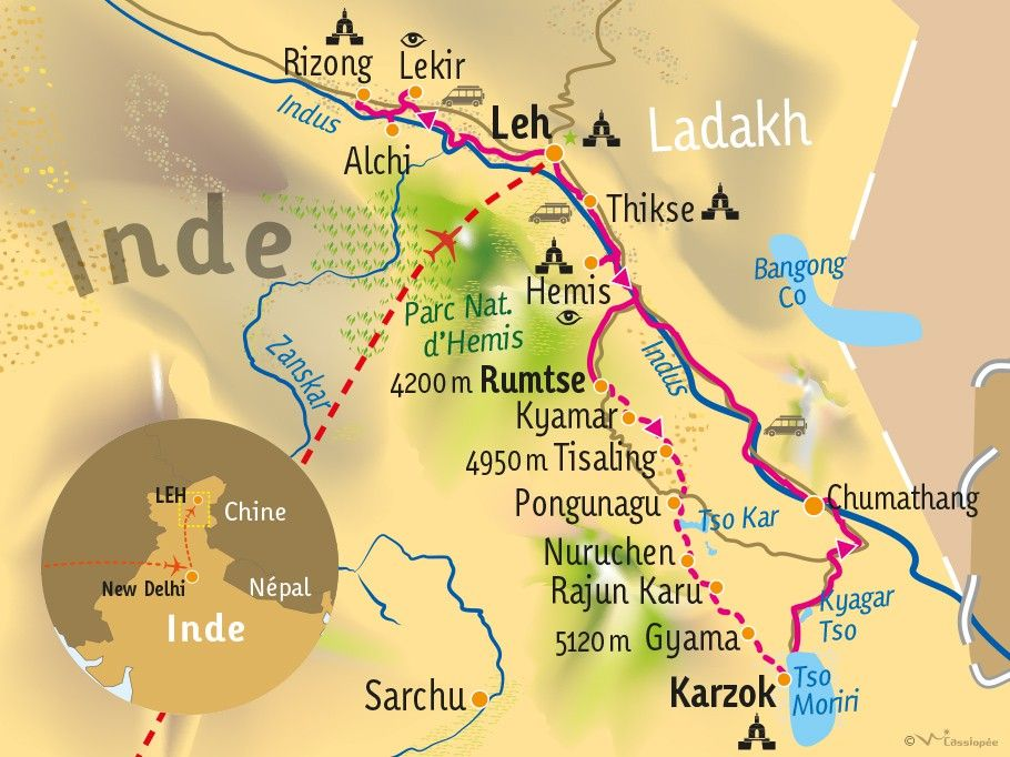 [KEY_MAP] - INDE/LADAKH - Trek des grands lacs