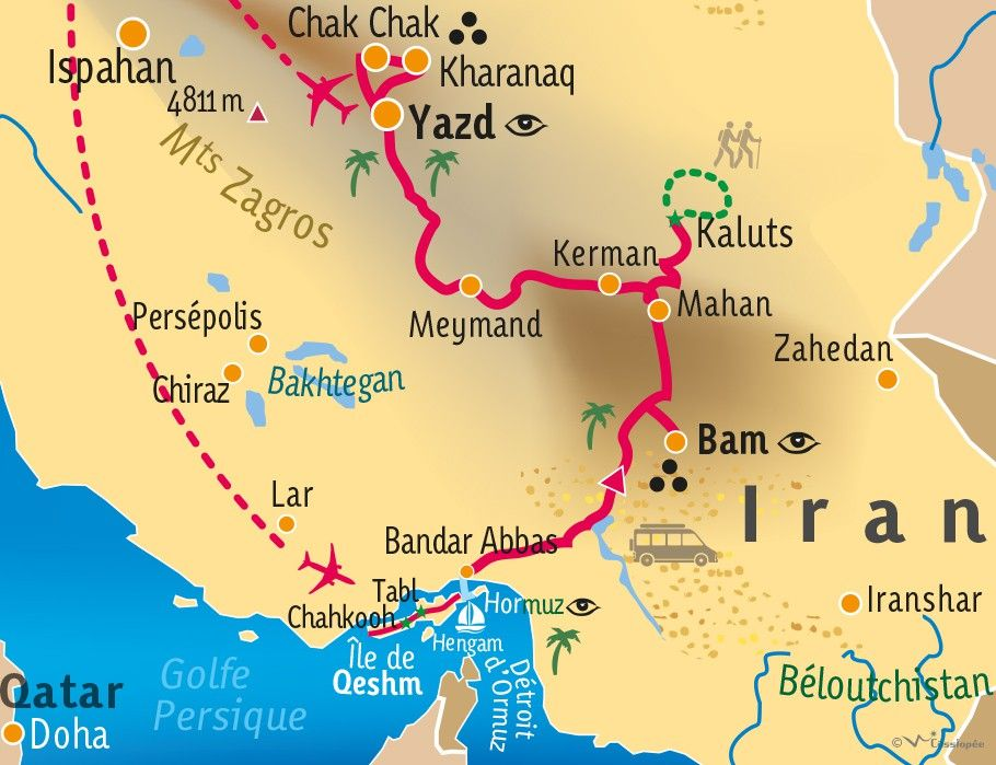 [KEY_MAP] - IRAN - Iles persiques et désert du Dasht-e Lut